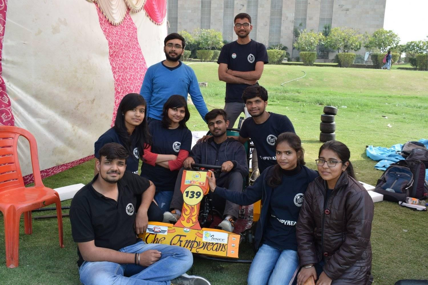 Team EMPYREANS from IET has won the Go-kart  Designing Challenge '19, 125cc edition held at Buddha International Circuit, Noida.