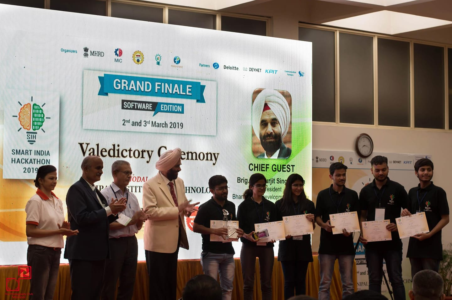 IETians won the grand finale of Smart India Hackathon-2019, conducted by MHRD in association with AICTE.